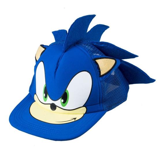 Sonic The Hedgehog Gorro Snapback Niño Malla
