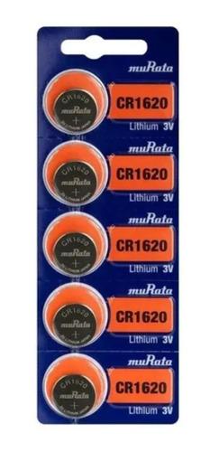 Imagen 1 de 6 de Pilas Sony Cr 1620 Litio 3v Blister 5u Distribuidor Oficial