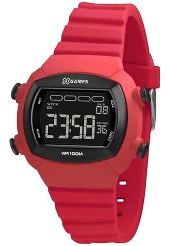 Relógio Xgames Feminino Rosa Quadrado Xlppd051 Pxrx