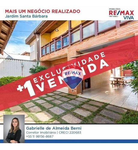 Imagem 1 de 30 de Casa Com 3 Dormitórios À Venda, 217 M² Por R$ 649.990,00 - Jardim Santa Bárbara - Atibaia/sp - Ca6069