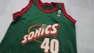Jersey Nba Champion Juvenil Sonics Seattle Kemp