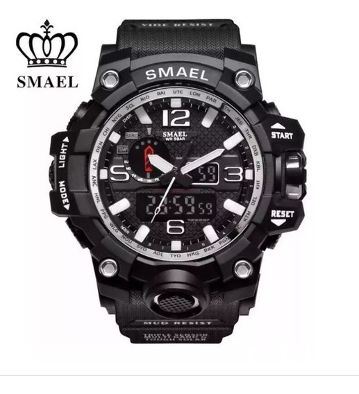 Relógio Masculino Militar Shock Esportivo Smael Preto