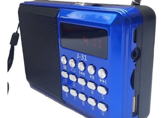Rádio Portátil Digital Fm Bluetooth Usb Radinho Racarregavel