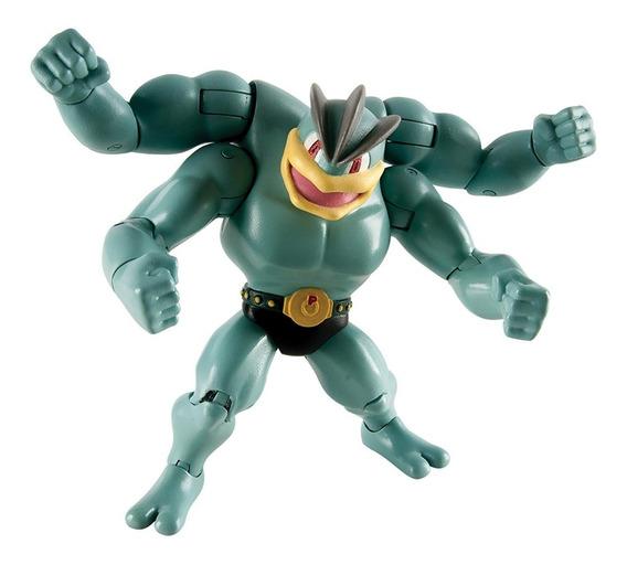 Pokemon- Boneco Machamp - 15 Cm Articulado - Original Tomy