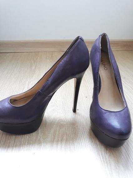 Sapato Via Uno Roxo - Usado 2 Vezes