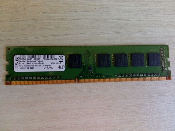 Kit Com 2 Memoria Ram Ddr3 4gb 1600mhz Smart
