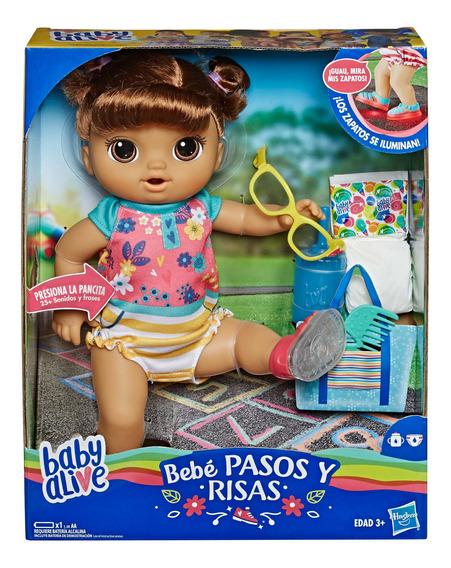 Baby Alive Muñeca Camina Y Rie Castaña