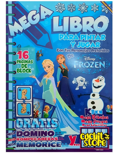 Mega Libro Para Pintar Colorear Y Jugar Frozen Ana Y Elsa