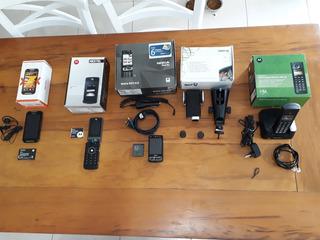 Lote De Telefone Celular Antigo E Telefone Sem Fio