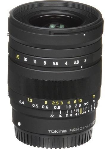 Lente Tokina Firin 20mm F/2 Fe Mf Para Sony Garantia Lojista