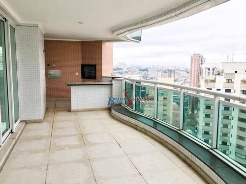 Apartamento Com 4 Dormitórios À Venda, 265 M² Por R$ 2.950.000,00 - Jardim Anália Franco - São Paulo/sp - Ap2820