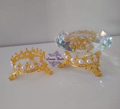 1 Diamante Furta Cor+ 1 Suporte Coroa Decoracao E Fotos Unha
