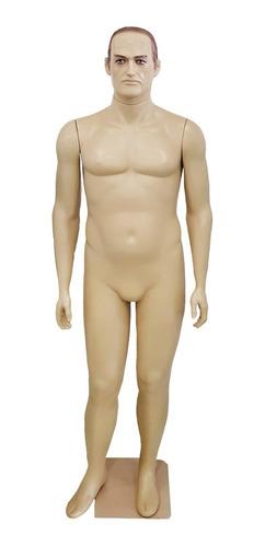 Maniquí Hombre Plástico Masculino Maquillado Color Beige