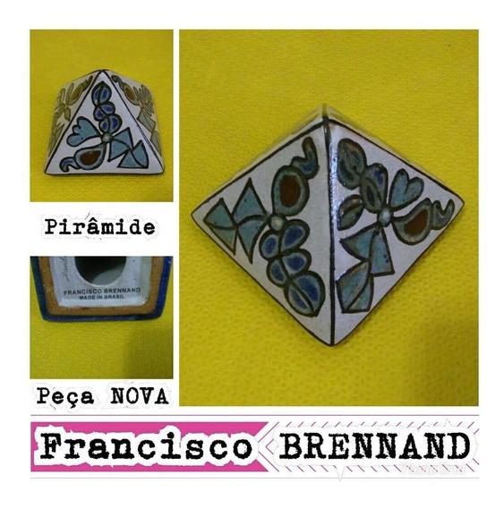 Brennand - Pirâmide - Cerâmica Esmaltada - 9cm Altura. Nova.