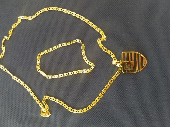 2 Conjunto De Aço Inox Banhado A Ouro