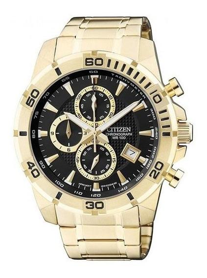 Relógio Citizen An3492-50e Masculino Dourado Cronografo
