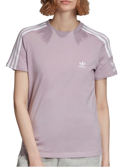 Remera adidas Originals Moda Lock Up Tee Mujer Ma/bl