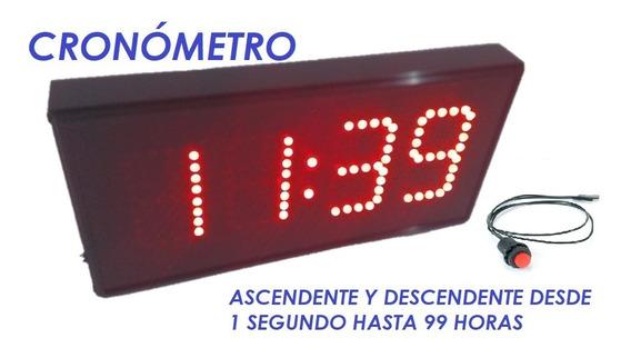 Reloj Digital Leds Cronómetro, Botón Externo