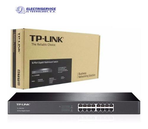 Imagen 1 de 4 de Switch 16 Puertos Rj45 Tp-link  Sf-1016 Rack