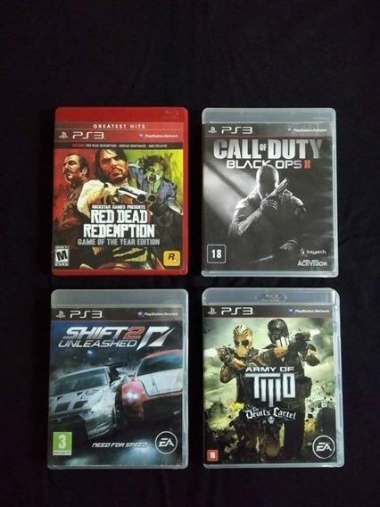 Lote De Jogos Mídia Física Ps3 Playstation 3 Red Dead , Cod