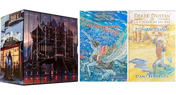 Box Coleção Harry Potter. Todos Os 7 Livros + Derek Dustin