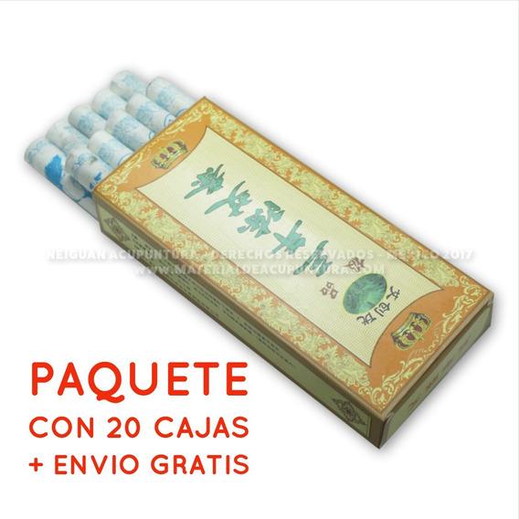 Puros De Moxa Acupuntura Caja Con 10 Piezas Mayoreo 20 Cajas