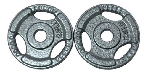 Imagen 1 de 2 de Par De Discos Estandar De 2.5 Lbs Para Barra De 1 Pulgada