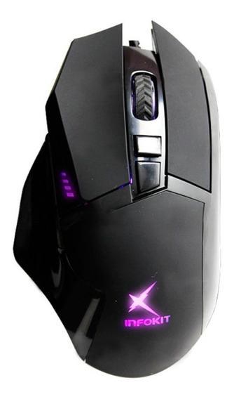 Mouse Gamer Usb Com Led Rgb Soldado Gm-601 Lançamento