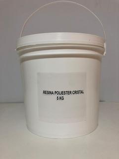Resina Cristal Vidrio Liquido Poliester X 5kg C/cat Artesani