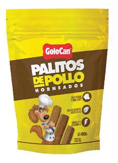 Golosinas Perros Golocan Palito Sabor Pollo 450g 2 Bolsas