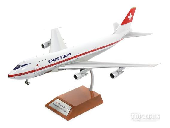 Miniatura Avião Inflight200 1:200 Swissair Boeing 747-200