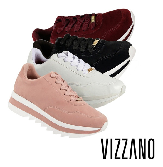 Tênis Vizzano Plataforma Tratorado 100% Original