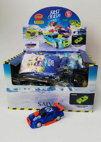 Autitos Fast Crash Ice  - Caja X 12 - Auto A Fricción