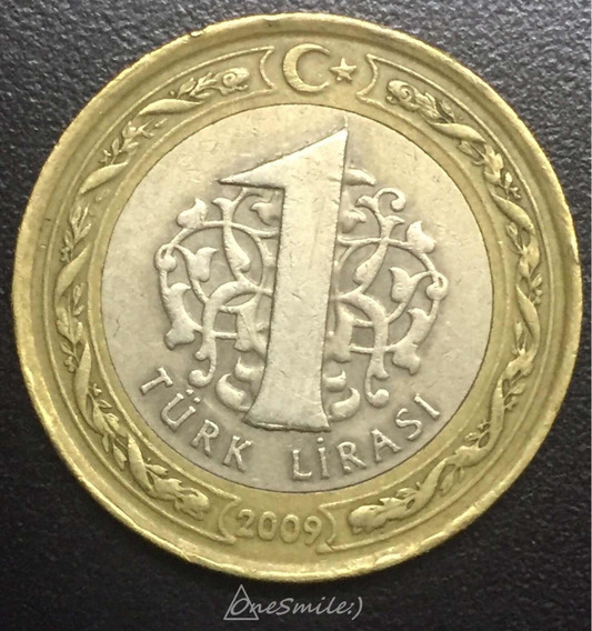 Onesmile:) Moneda De Turquía 1 Lirasi Bimetalica Año 2009