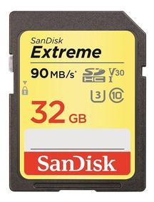 Cartão De Memoria Sd 32gb 90mb/s Extreme - Lacrado Blister