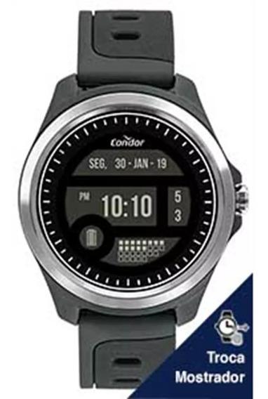 Relógio Masculino Condor Digital Cokw05caa/8c Cinza Novo!