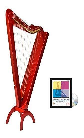 33 Cuerdas Acústica Electric Grand Harpsicle Harp Red ®
