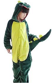 Kigurumi Pijama Dinosaurio Mameluco Disfraz, Niños