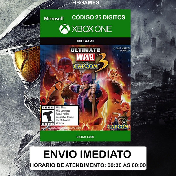 Ultimate Marvel Vs. Capcom 3 Xbox One Código 25 Digitos