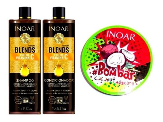 Inoar Blends Vitamina C + Máscara Bombar Coconut Inoar