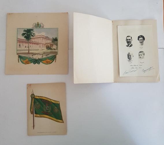 Cartões Da Família Imperial Brasileira Com Assinaturas