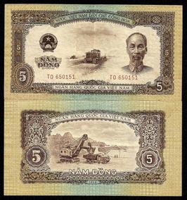 Vietnã 5 Dong 1958 P. 73 Sob Cédula - Tchequito
