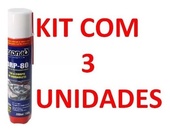 3 Descarbonizante Limpa Tbi E Corpo Borboleta Drp-80 Radnaq