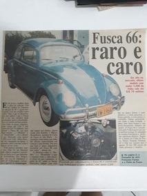 Propaganda Recorte De Jornal Antigo Fusca 66 Para Coleciona
