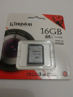 Kingston Sd Hc 16gb Clas 10 U1 G2 Pronta Entrega
