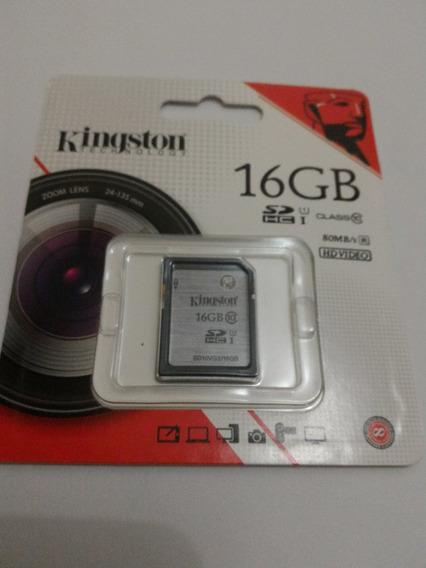 Kingston Sd Hc 16gb Clas 10 U1 G2 Pronta Entrega