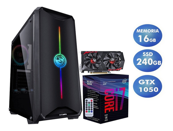 Pc Gamer I7-8700 8ª, H310m, Ssd 240gb, Gtx 1050, 16gb Ddr4