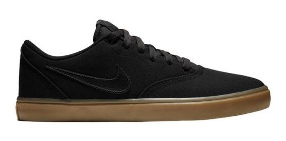 Zapatillas Nike Sb Check Solarsoft Canvas Black Gum Hombre