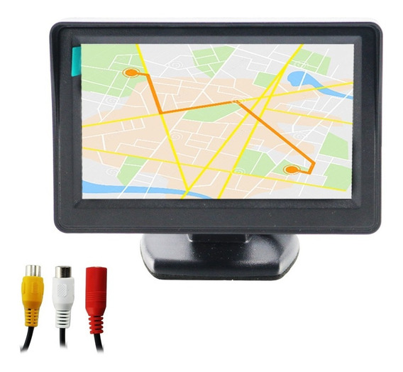 Monitor 4.3 Polegada Tft Lcd Do Carro Retrovisor C/camera