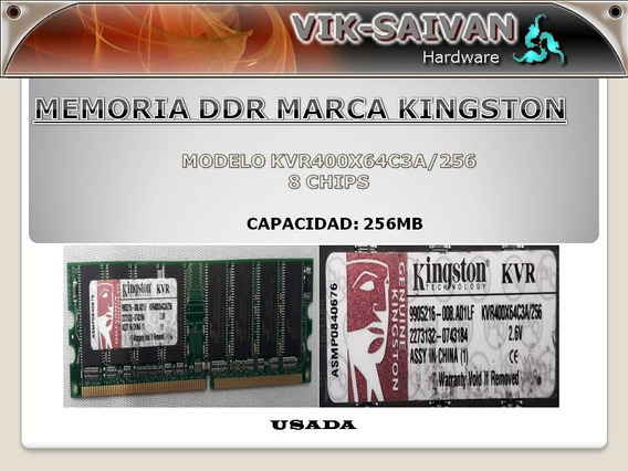 Memoria Ddr Kingston 256mb Pc-3200 400mhz 8 Chips 42